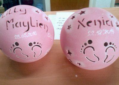 keramik-kugel-namen-fuss-rosa